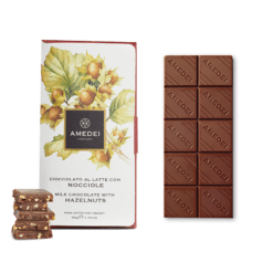 Amedei Milk Chocolate With Hazelnuts - 50g
