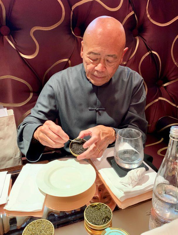 Chef Ken Hom OBE has a King's Caviar tasting Experience