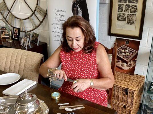 Aquitaine caviar Tasting with Laura King