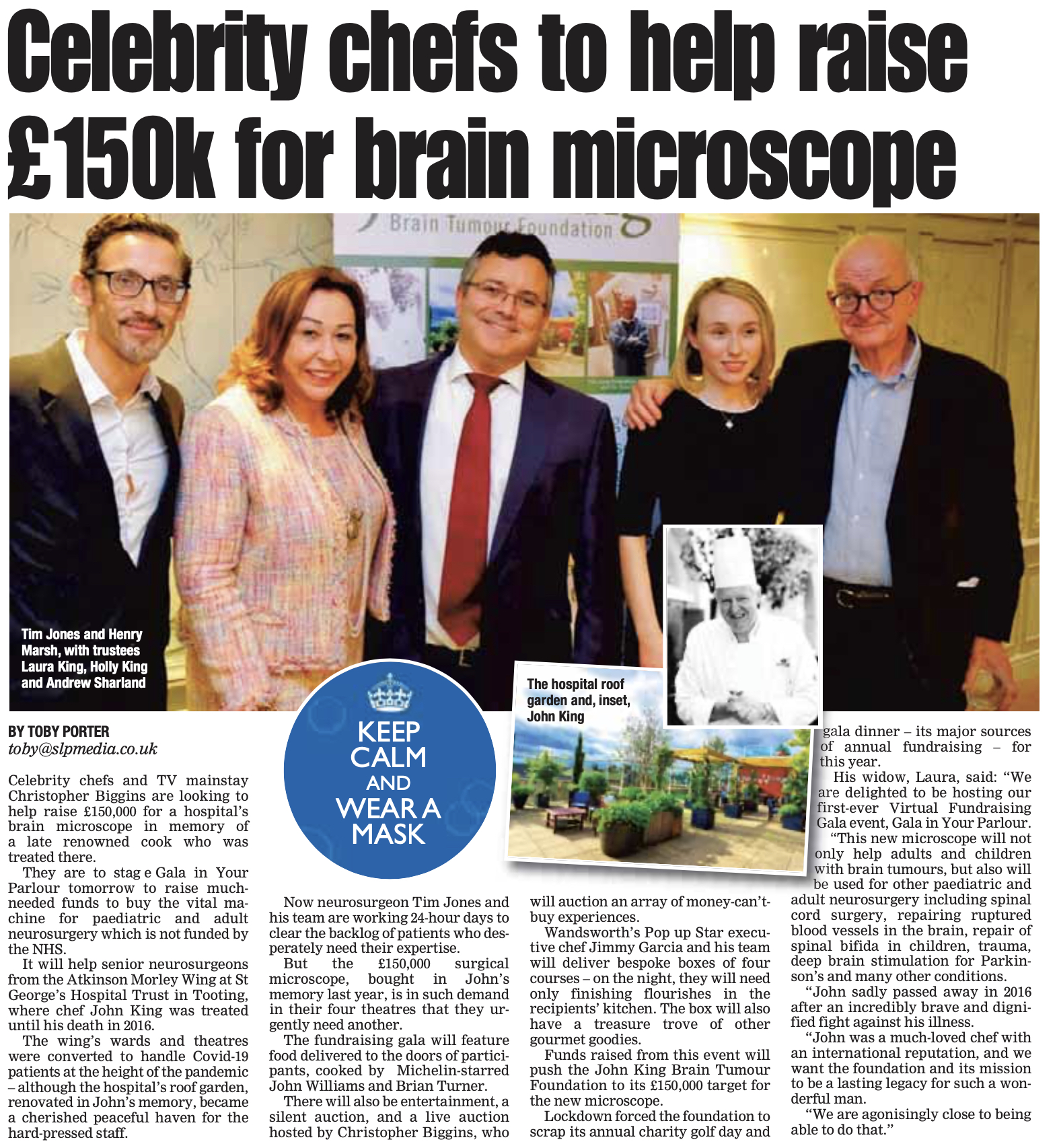 Celebrity Chefs to Help Raise £150k for Brain Microscope