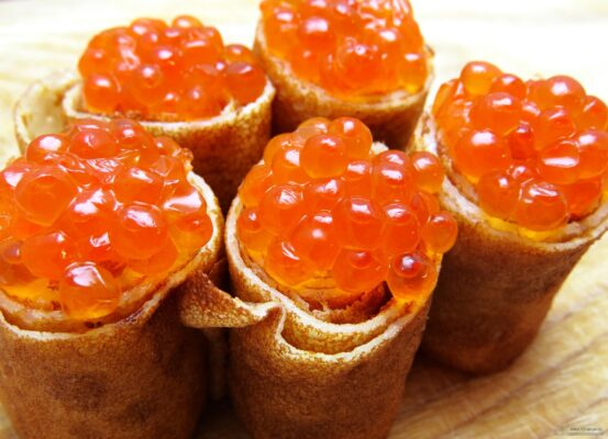 Keta Caviar Crepes