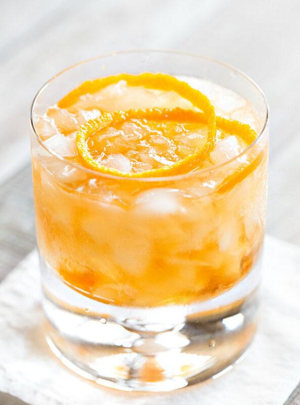 Vanilla Old Fashioned Cocktail