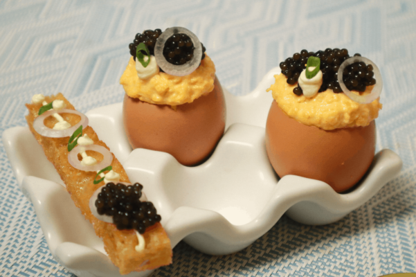 Free Range Scrambled Eggs with Imperial Caviar